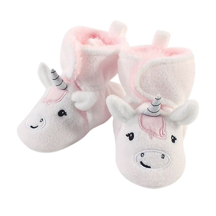 Alternate image 1 for Hudson Baby® Size 2T Unicorn Sherpa Fleece-Lined Scooties in White