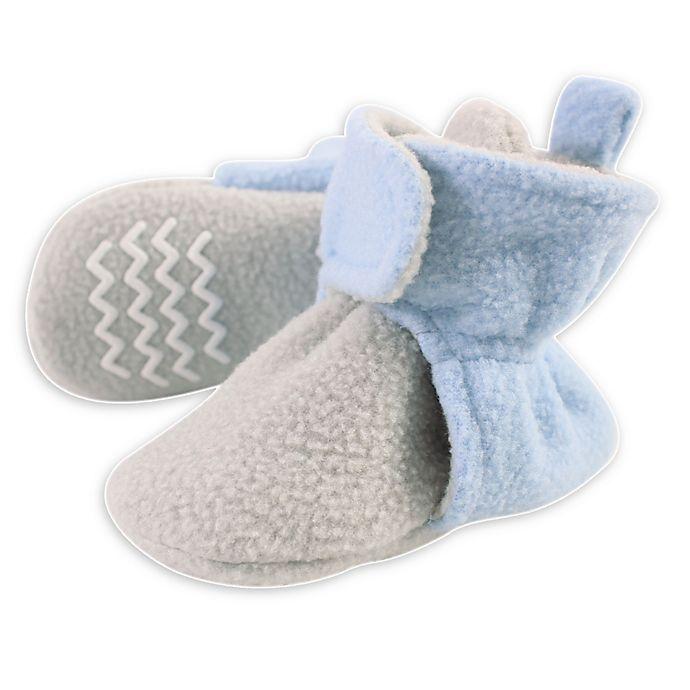 Alternate image 1 for Hudson Baby® Fleece Lined Scooties in Light Blue/Grey