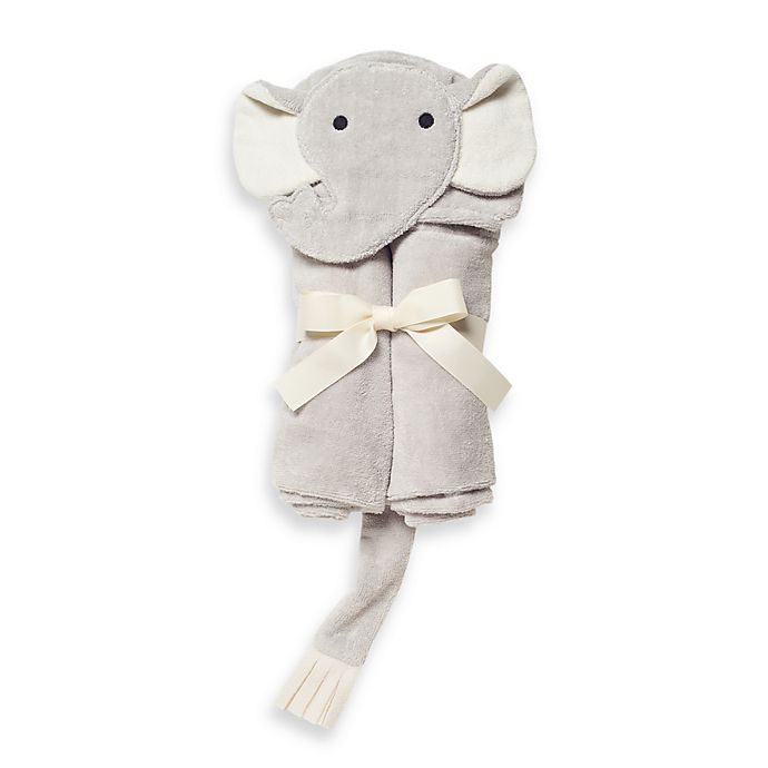 Alternate image 1 for Elegant Baby® Elephant Bath Wrap Towel in Grey
