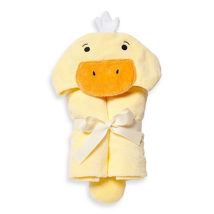 Alternate image 1 for Elegant Baby® Ducky Bath Wrap Towel in Yellow