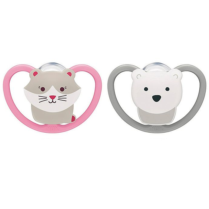 Alternate image 1 for NUK® Space&trade Orthodontic 2-Pack Pacifiers