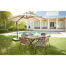 Destination Summer 11-Foot Round Solar Cantilever Umbrella