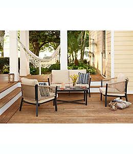 Set de muebles para patio Destination Summer en natural, 4 piezas