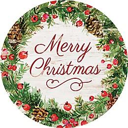 "P. Graham Dunn ""Merry Christmas"" 17-Inch Round Wood Wall Art"