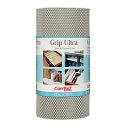 Con-Tact® Brand Grip Non-Adhesive Ultra Shelf and Drawer Liner in Grey