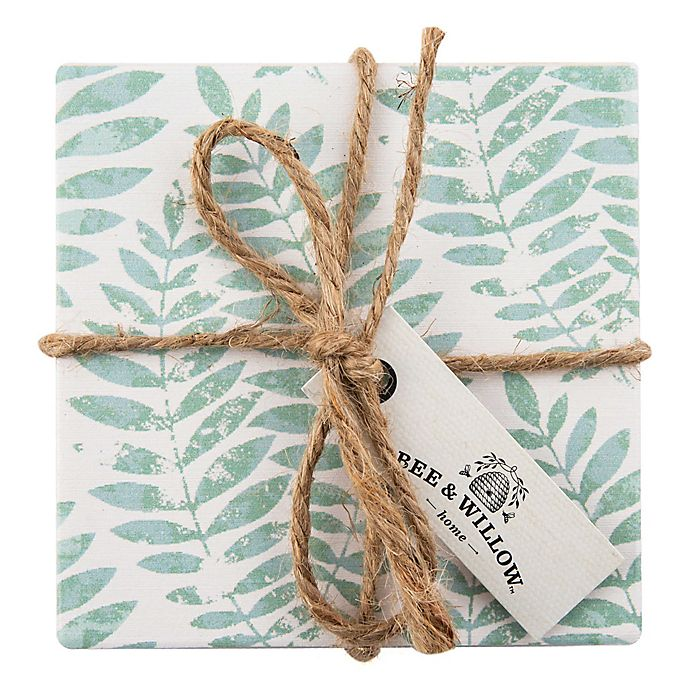 Alternate image 1 for Bee & Willow™ Home Vintage Fern Coasters (Set of 4)