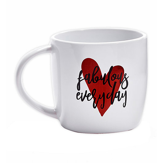 Alternate image 1 for Fabulous Everyday Coffee Mug in Red/Black