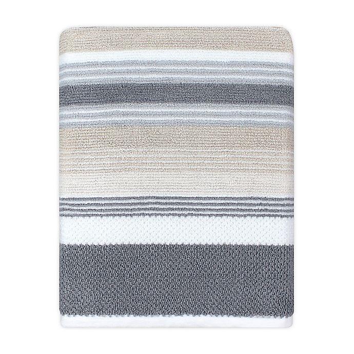 Alternate image 1 for KAS ROOM Zerena Striped Bath Towel