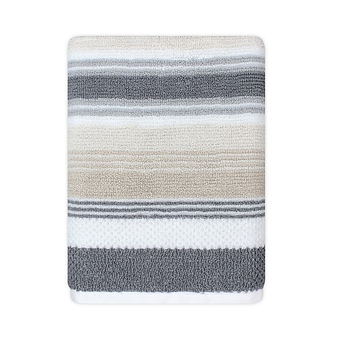 Alternate image 1 for KAS ROOM Zerena Striped Hand Towel