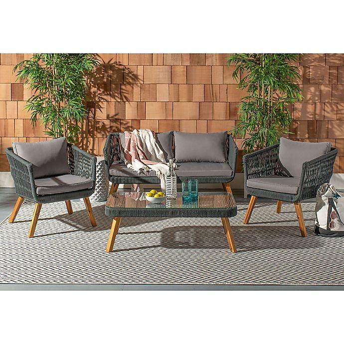 Alternate image 1 for Safavieh Denridge 4-Piece Outdoor Furniture Set