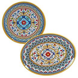 Certified International Portofino 2-Piece Melamine Platter Set