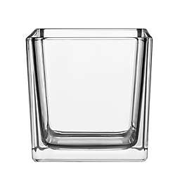 6-Inch Square Glass Cube Vase