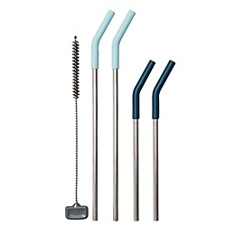 OXO Good Grips® 5-Piece Stainless Steel Reusable Straw Set