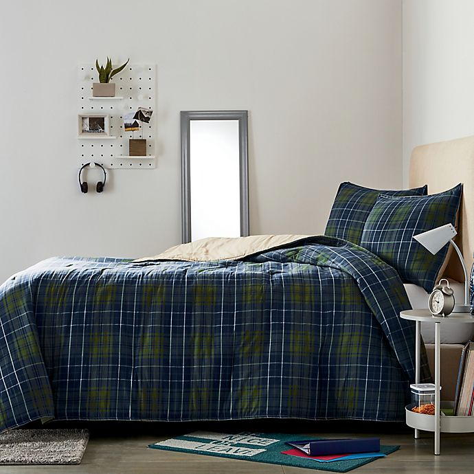Alternate image 1 for Wamsutta® Boulder 2-Piece Plaid Twin/Twin XL Comforter Set