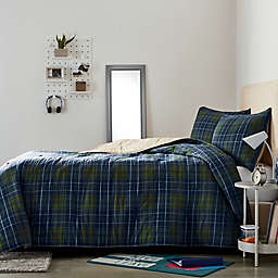 Wamsutta® Collective Boulder 2-Piece Plaid Twin/Twin XL Comforter Set in Olive/Navy