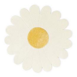 Nico & Yeye Daisy Flower 3' x 3' Hand Loomed Accent Rug in White/Yellow