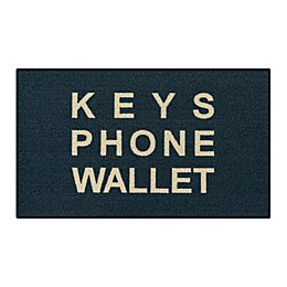 Keys Phone Wallet 1'8 x 2'10 Accent Rug in Blue