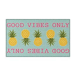 Good Vibes Only 1'8 x 2'10 Multicolor Accent Rug