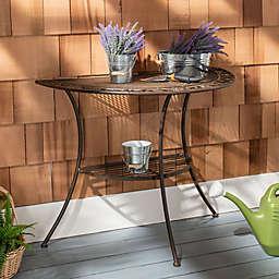 Safavieh Genson Iron End Table in Rust