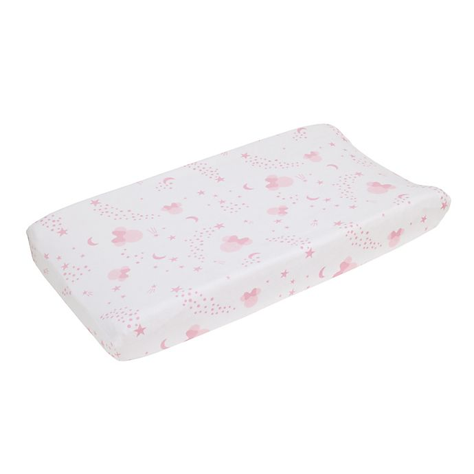 Alternate image 1 for Disney® Twinkle Twinkle Minnie Mouse Changing Pad Cover in Pink