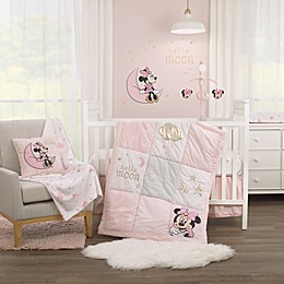 Disney® Twinkle Twinkle Minnie Mouse 3 Piece Crib Bedding Set in Pink