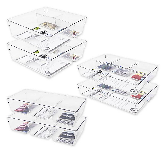 Alternate image 1 for Heritage Multipurpose Drawer Organizer Bin Collection in Clear