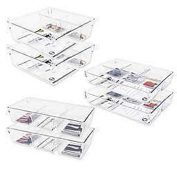 Heritage Multipurpose Drawer Organizer Bin Collection in Clear