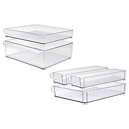 Heritage Multipurpose Dresser Drawer Organizer Bin Collection in Clear