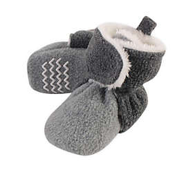 Hudson Baby® Size 0-6M Sherpa Booties in Grey