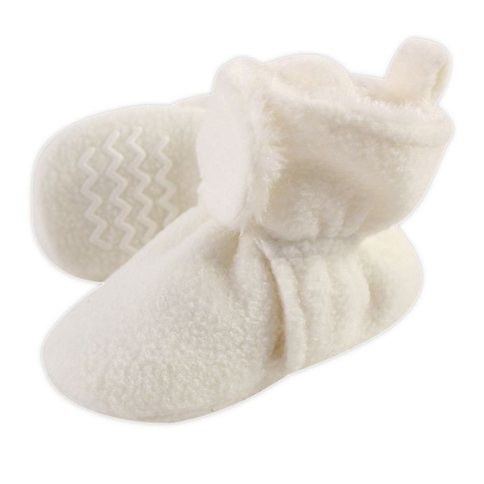 Alternate image 1 for Hudson Baby® Size 18-24M Sherpa Booties in Beige