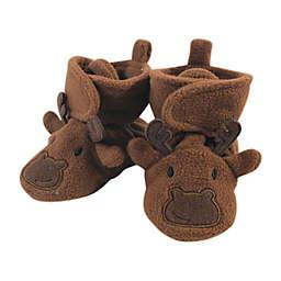 Hudson Baby® Size 18-24M Fleece Moose Booties in Dark Brown