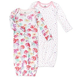 Honest Baby® Size 0-6M 2-Pack Rose Blossom/Love Dot Organic Cotton Sleeper Gowns