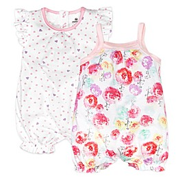 Honest Baby® 2-Pack Rose Blossom/Love Dot Organic Cotton Rompers