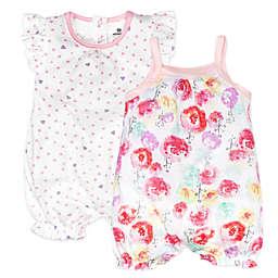 Honest Baby® 2-Pack Rose Blossom/Love Dot Organic Cotton Rompers