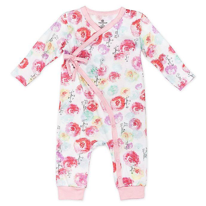 Alternate image 1 for Honest Baby® Rose Blossom Organic Cotton Side-Snap Kimono Coverall