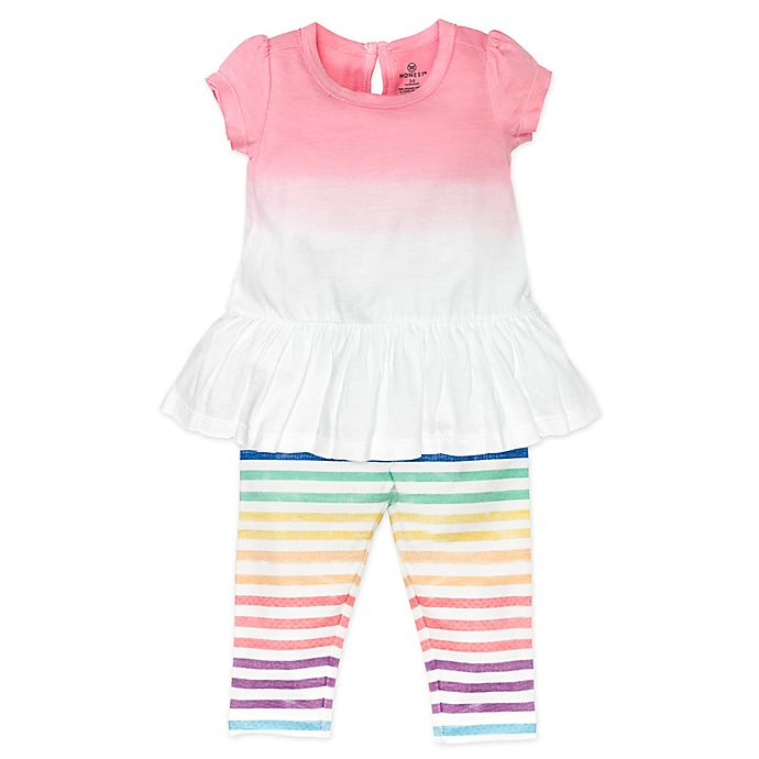 Alternate image 1 for Honest Baby® 2-Piece Rainbow Organic Cotton Tunic and Legging Set