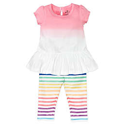 Honest Baby® Size 0-3M 2-Piece Rainbow Organic Cotton Tunic and Legging Set