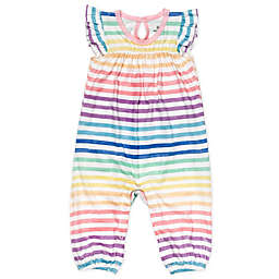 Honest Baby® Rainbow Stripe Organic Cotton Flutter Sleeve Coverall