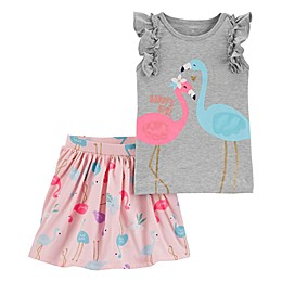 carter's® Flamingo Top and Skirt Set