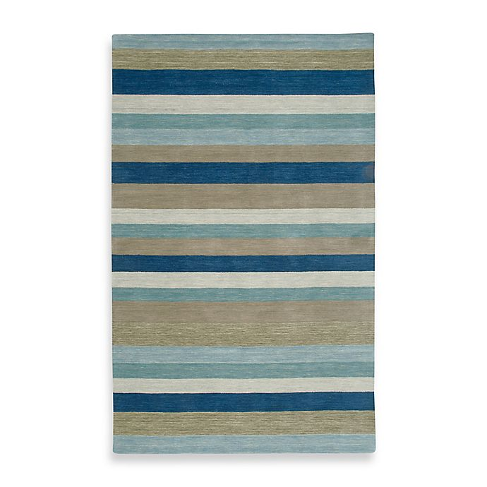 Alternate image 1 for Rizzy Home Platoon 8-Foot x 10-Foot Area Rug in Blue Stripe