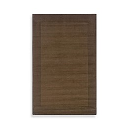 Rizzy Home Platoon Area Rug in Brown Border