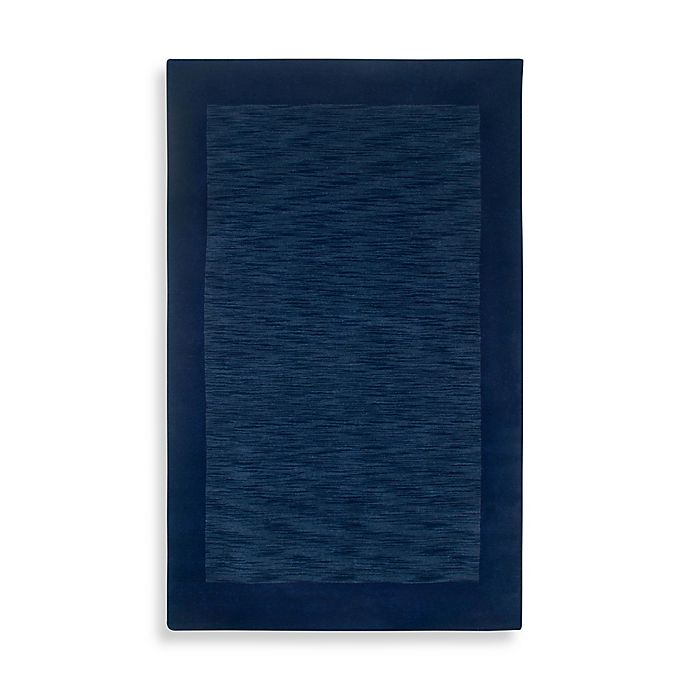 Alternate image 1 for Rizzy Home Bordered Platoon Area Rug in Indigo Blue