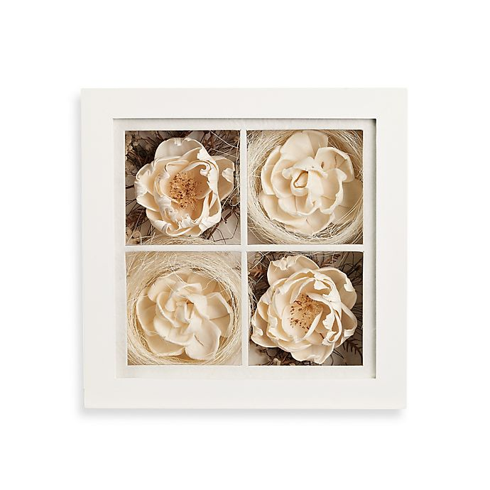 Alternate image 1 for 9-Inch Square Floral Shadowbox Wall Art