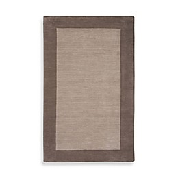 Rizzy Home Bordered Platoon Area Rug in Light Brown