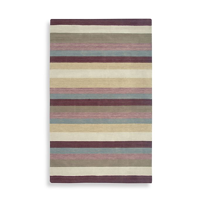 Alternate image 1 for Rizzy Home Platoon Collection 8-Foot x 10-Foot Plum Rug