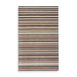 Rizzy Home Platoon Collection Plum Stripe Rug