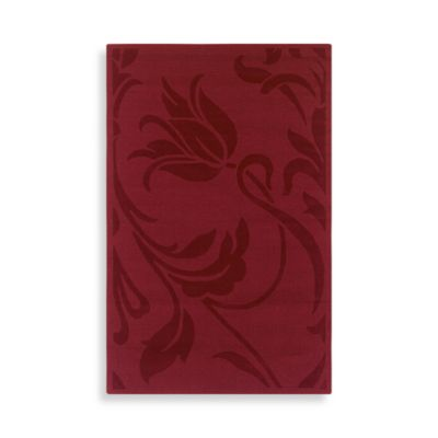 Rizzy Home Platoon Collection Red Floral Rug Bed Bath