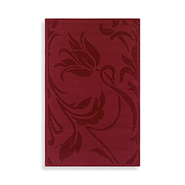 Rizzy Home Platoon Collection Red Floral Rug