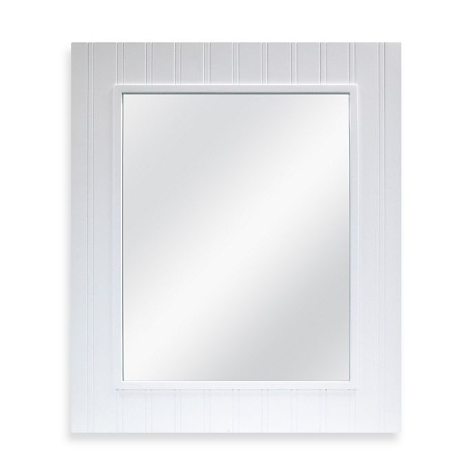 Alternate image 1 for Wainscot Mirror in White