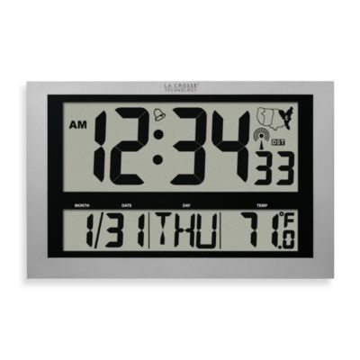 La Crosse Technology Atomic Digital Wall Clock with Jumbo ...